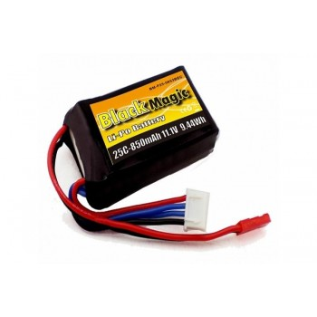 Аккумулятор Black Magic LiPo 11.1V 3S 25C 850 mAh - BM-F25-0853BEC