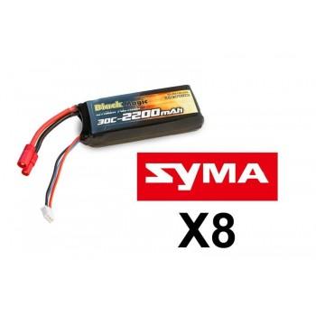 Аккумулятор Black Magic Li-Po 7,4V(2S) 2200mAh 30C Tubes Plug 3.5 mm - BM-F30-2202