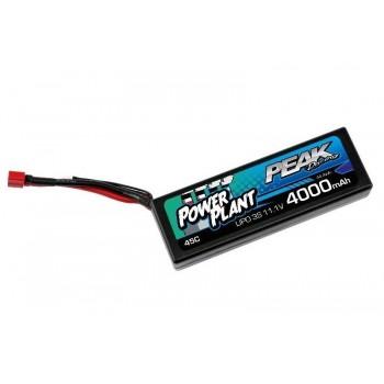 Аккумулятор Peak Racing Power Plant Lipo 4000 11.1V 45C (Black case, Deans Plug) 12AWG - PEK00552
