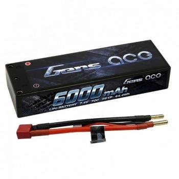 Аккумулятор Li-Po - 7.4В 6000мАч 70C Pro Racing (2S) - GA-B-70C-6000-2S1P-HardCase-10