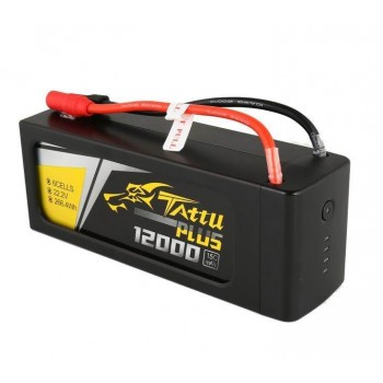 Аккумулятор GensAce Li-Po - 14.8В 12500мАч 15C (4S1P) TATTU Plus - TA-PLUS-15C-12000-6S1P