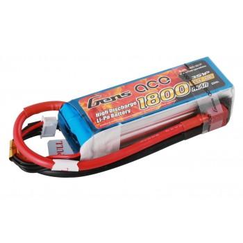 Аккумулятор Li-Po - 11.1В 1800мАч 40C (3S1P) T-PLUG