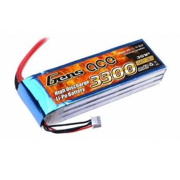 Аккумулятор Li-Po - 11.1В 3300мАч 60C (3S1P) T-PLUG
