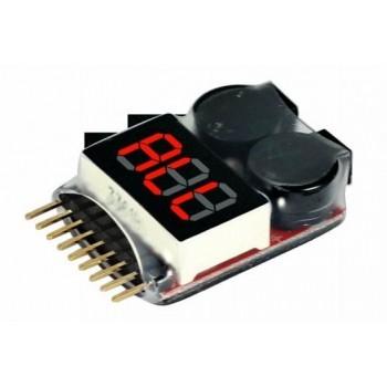 Бортовой тестер-индикатор напряжения 1-8S Lipo - IMAX-BVT