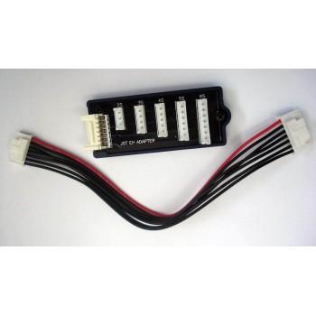 Балансировочный разъем Li-Po с кабелем HUB | 5 in 1 (JST EH Adapter) - AM-1253