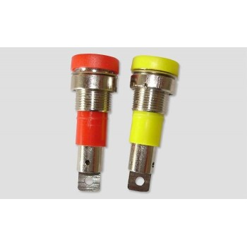 Разъем D4.0mm gold Nickel plated Binding post 1шт (Red or Yellow) - AM-1505