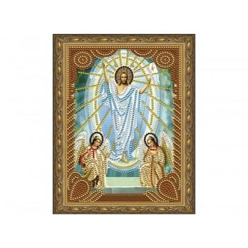 Алмазная 5D мозаика с нанесенной рамкой 20х30 ВОСКРЕСЕНИЕ ХРИСТОВО (7 цветов)