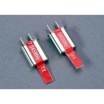 Кварц Crystal set, 2-канальный, красный, 27.045 MHz