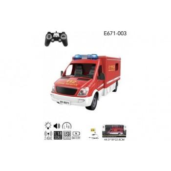 Радиоуправляемая пожарная машина Double Eagle 2.4G - E671-003