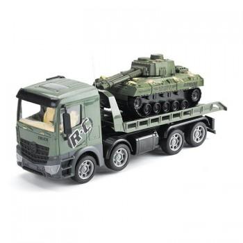 Радиоуправляемый грузовик-трейлер + танк Zhoule Toys CityTruck 1:24 - 553-B3