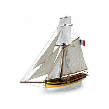 Сборная деревянная модель корабля Artesania Latina LE RENARD 2012, масштаб 1:50 - AL22401