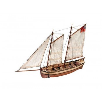 Сборная деревянная модель шлюпки корабля Artesania Latina ENDEAVOUR, масштаб 1:50 - AL19015