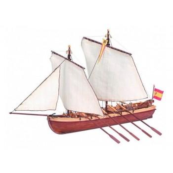 Сборная деревянная модель капитанской шлюпки корабля Artesania Latina SANTISIMA TRINIDAD, масштаб 1:50 - AL19014