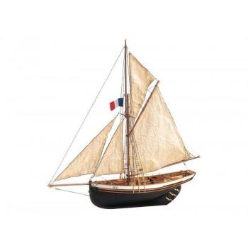 Сборная деревянная модель корабля Artesania Latina JOLIE BRISE, масштаб 1:50 - AL22180