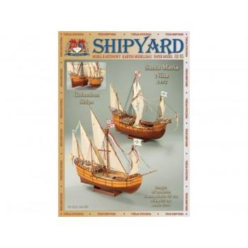 Сборные бумажные модели Shipyard каракка Santa Maria и каравелла Nina (№65), масштаб 1|96