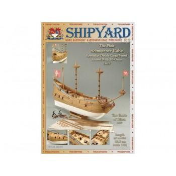 Сборная модель Shipyard флейт Schwarzer Rabe (№39), масштаб 1:96 - MK010