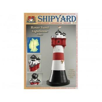 Сборная модель Shipyard маяк Roter Sand Lighthouse (№46), масштаб 1:87 - MK015