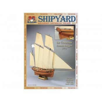 Сборная модель Shipyard люгер Le Coureur (№51), масштаб 1:96 - MK020