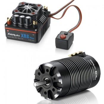 Бесколлекторная сенсорная система Xerun COMBO XR8 Plus 4274 A для моделей масштаба 1:8 - HW-COMBO-XR8-Plus-4274-A