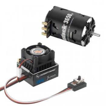 Бесколлекторная сенсорная система Xerun COMBO XR10 JS4 Black G2 для моделей масштаба 1:10 - HW-COMBO-XR10-JS4-Black-G2