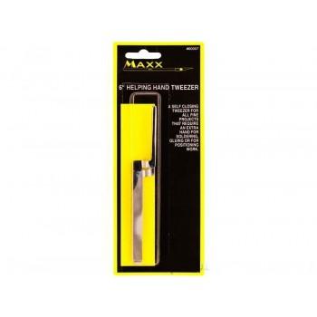 Модельный инструмент MAXX пинцет прямой самозажимной изогнутый 15.2см - MAXX60007