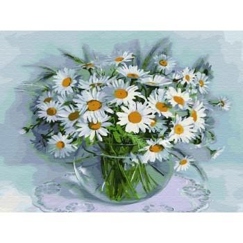 Картина по номерам 40х50 БУЗИН. РОМАШКИ (26 цветов)