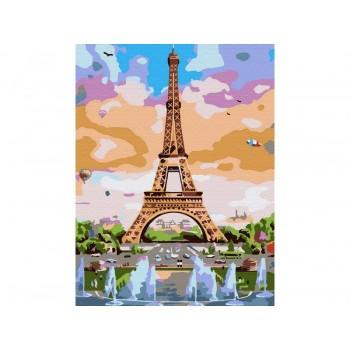 Картина по номерам 15х20 ЭЙФЕЛЕВА БАШНЯ (16 цветов)