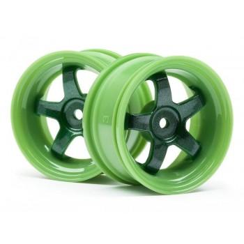 Диски туринг 1 10 - WORK MEISTER S1 Зеленые (3мм OFFSET 2шт) - HPI-111090