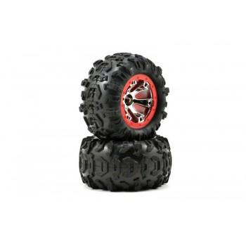 Диск колеса и покрышка колеса в сборе, для автомодели Traxxas Summit 1 16. 2 штуки - TRA7272