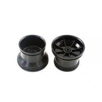 Черные диски 2 шт. масштаб 1:18 - Hi28734B