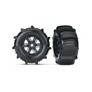 Колеса в сборе для Traxxas X-MAXX с *лопатками*, левое и правое - TRA7773
