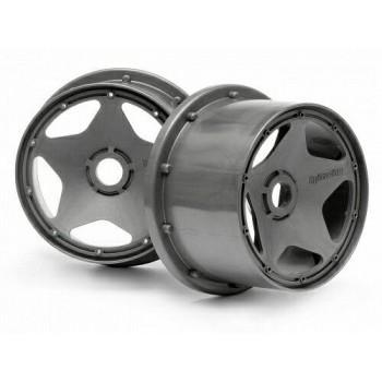 Диски багги 1|5 - задние SUPER STAR GUNMETAL (120x75mm) 2шт - HPI-3227
