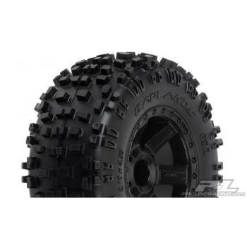 Колеса в сборе Трак 1|10 - Badlands 2.8* All Terrain Tires Mounted on Desperado Black Wheels - PL1173-12