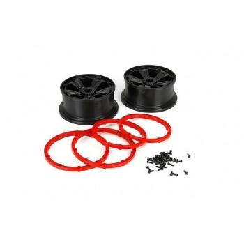 Диски колесные, черные (2шт), Losi DB XL - LOS45005