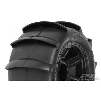 Колеса в сборе трак 1|8 - Sling Shot 3.8 Sand (1|2 Offset| hex17mm) (2шт) - PL1179-11**
