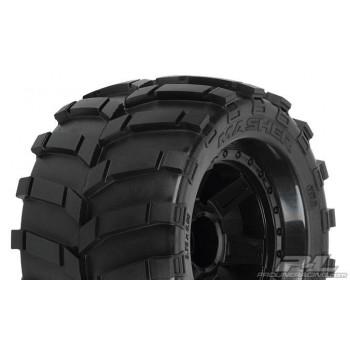 Колеса трак 1|8 - Masher 3.8 (Traxxas Style Bead) All Terrain (Desperado Black 1|2 Offset 17mm) 2шт - PL1189-11**