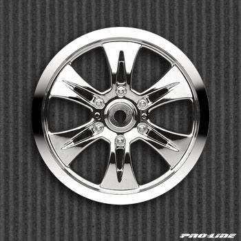 Диски колесные (Трак 1|8) - MAXXTM Velocity 6 | Zero off-set | Chrome | HEX14mm | 2шт - PL2662-01