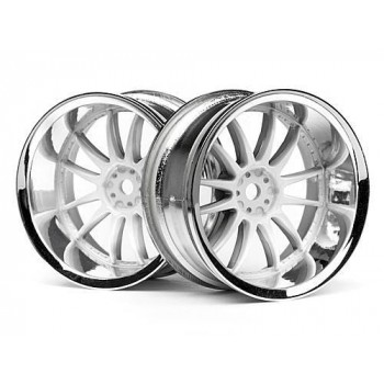 Диски 1|10 - WORK XSA 02C 26mm CHROME|WHITE (вынос 9mm) 2шт - HPI-3285
