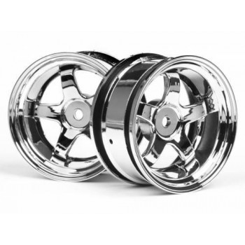 Диски 1|10 - WORK MEISTER S1 26mm CHROME (6mm OFFSET) 2шт - HPI-3592