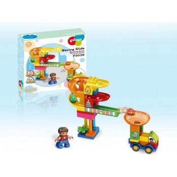 Конструктор Pilage Доставка детских товаров (42 детали), лабиринт с шариками и воронками