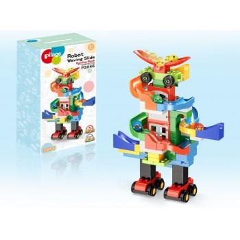 Конструктор Pilage Веселый робот (115 деталей), лабиринт с шариками