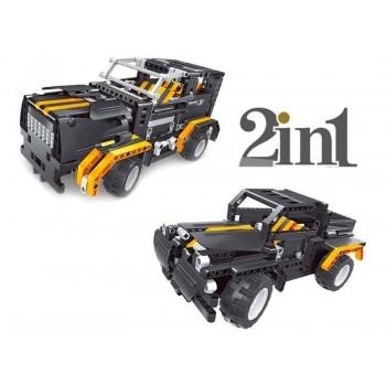 Р/У конструктор Qihui Mechanical Master 2 в 1 Джип и Пикап (509 деталей)