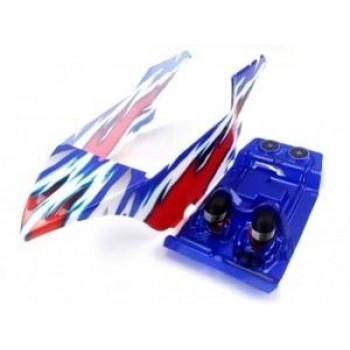 Окрашенный кузов (красно-синий) для моделей багги Himoto E10DB|DBL 1:10 - Hi31701-SET