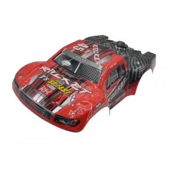 Окрашенный кузов (красный) для моделей шорт-корс траков Remo Hobby Rocket 1:16 - D2602