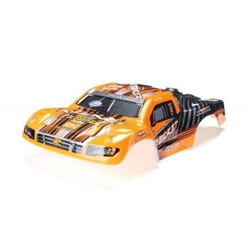 Окрашенный кузов (оранжевый) для моделей шорт-корс траков Remo Hobby Rocket 1:16 - D2603