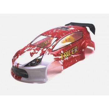 Окрашенный кузов (красный) для Himoto E18OR, E18ORL 1:18 - Hi28692