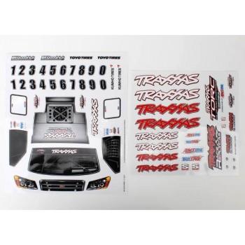 Набор наклеек на кузов, 1|16 Slash 4WD team truck