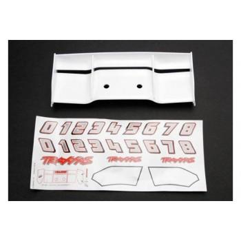 Антикрыло автомодели, пластик, цвет белый, с комплектом наклеек - TRA5412