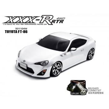 Модель раллийного автомобиля MST XXX-R TOYOTA FT-86 White 4WD RTR масштаб 1:10 2.4G - MST-531104W