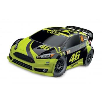Модель раллийного автомобиля TRAXXAS Rally Ford Fiesta ST VR46 4WD RTR масштаб 1:10 2.4G - TRA74064-1